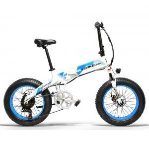China Popular Folding Fat Bike , 20 Inch 1000 Watt Electric Bike 5 Shifts Control on sale