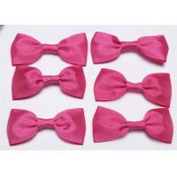 Buy Pink Tie Christmas Ribbon Bow Tie , Satin Ribbon Bows Eco Friendly at wholesale prices