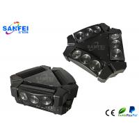Quality Mini LED Moving Head Spider Beam Light / LED Stage Lights RGBW 9pcs X 3W for sale