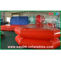 Quality Red PVC Inflatable Water Pool Air Tight Swimming Pond For Children Playing for sale