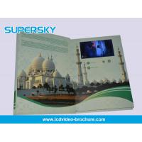Quality 4.3 inch / 5 Inch TFT LCD Video Brochure , Folded LCD Greeting Card for sale