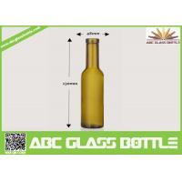 Buy Factory sale 200ml empty wine glass bottle,custom frosted wine bottle with wooden cap at wholesale prices