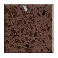 Quality Supply Crystal Brown Quartz Stone Slabs for sale