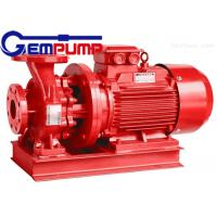 Quality ISW Horizontal Pipe Inline Water Booster Pump Red Color 10~125 m Head for sale