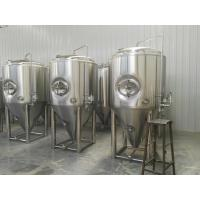 China Side Manhole 1000l Conical Fermentation Tank With 3 Bar Pressure Vessels on sale