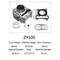 Quality Yamaha Motorcycle Cylinder Repair Kit ZY100 For Yamaha Jog 100 Scooter for sale