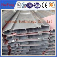 Quality aluminum profiles per kg large dimension, industry and constructions profiles aluminium for sale