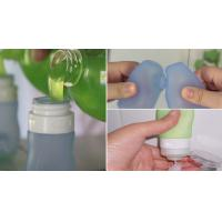 Quality hot sell Empty Squeezable Silicone Refillable Travel Shampoo Cream Tubes Bottle for sale