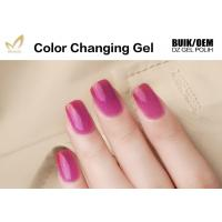 Quality Gradient Temperature Changing Gel Nail Polish , Organic Gel Mood Nail Polish for sale