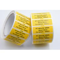 Quality PET Film Security Seal Total Transfer Tamper Evident Label Material for sale