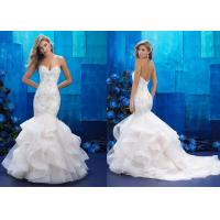 China Sexy Spaghetti Strap Mermaid Tail Wedding Dress Multi Colors Building Elegantly on sale
