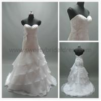 Quality Mermaid & Trumpet Sweetheart Ruffles Lace and Organza Wedding Dress LT2254 for sale
