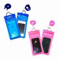 Quality Waterproof PVC Holder for iPhone, with 3 Lock Zipper Closures, Small in Size for sale