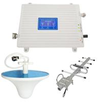 China 2G 3G 4G full bar gsm 900 mhz dcs 1800mhz wcdma 2100 mhz mobile phone signal repeater tri band signal booster for sale