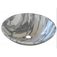 Arabescato Basin Marble Stone Sink Bowl Anti - Stain With Polished Surface for sale