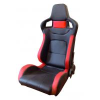 Quality Comfortable PU Leather Sport Auto Racing Seats / Black And Red Racing Seats for sale