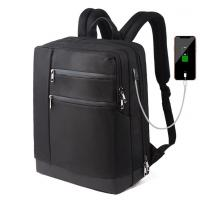 Quality New Waterproof School Daypack College Work Leisure Business Laptop Backpack Bag with USB Charging Port Men Black for sale