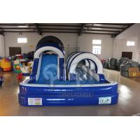 Quality Blue Inflatable Backyard Water Slide for sale