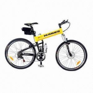 China Folding Electric Mountain Bike with 250W/350W/500W Motor, 36V 8Ah/9Ah/10Ah, 38kph Max Speed on sale
