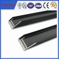 Quality Hot sales 6063 t5 black anodized solar panel mounting frames with ISO quality for sale