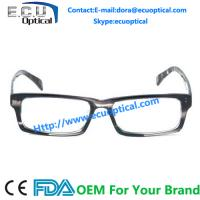 2014 New Design Female Style Glasses Stone Color Male Acetate Vintage Optical Frames for sale