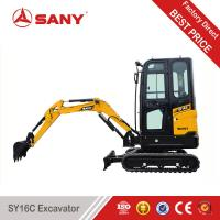 China SANY SY16C 1.6 tons Super Energy Saving Fuel Excavator Mini Digger for Garden on sale