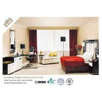 China Modern Commercial Hotel Apartment Furniture Sets Plywood Large Size King Bed With Floating Side Table  For Hotel on sale