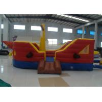 Quality Commercial Water Park Inflatable Pirate Ship Waterproof High Durability inflatable pirate boat jump house for sale