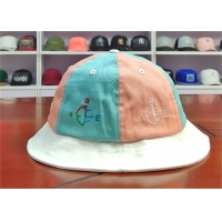 Quality ACE Women Men Girls Boys Custom Embroidery Logo Stagger Color Bucket Fishing Fisherman Cap Hat for sale
