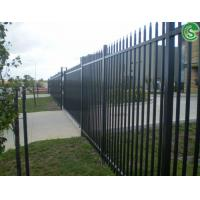 China USA garden decorative metal fence tubular steel fencing wholesale on sale