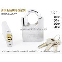 Buy cheap Shackle padlock name:Arc type Shackle Wrapped Padlock from wholesalers