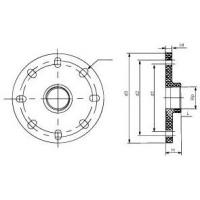 China UPVC Blank Flange With Female Copper Insert on sale