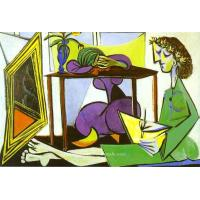 Quality Interior with a Girl Drawing. picasso202 - AMAZON OIL PAINTING CO.,LTD. for sale