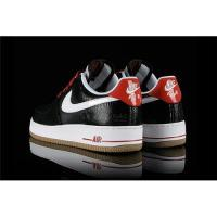 China Wow-nike cheap wholesale Nike Air Force 1 Low Black White Red Gum free shipping on sale