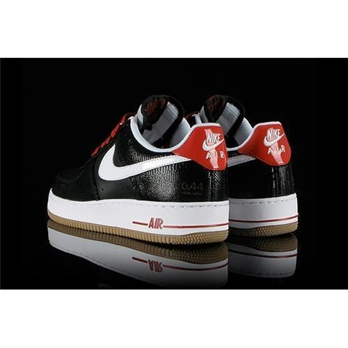 Buy Wow-nike cheap wholesale Nike Air Force 1 Low Black White Red Gum free shipping at wholesale prices