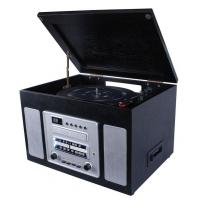 China NOSTALGIA WOODEN MUSIC CENTER Nostalgia Wooden Music Center with Turntable, CD, AM/FM Radio, Cassette Player and Aux-in function Model:E-6300 on sale