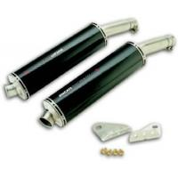 Quality Lowered silencers, carbon, round/oval for sale