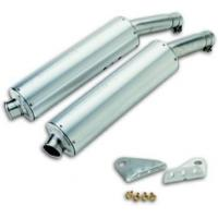 Quality Lowered silencers, aluminium, round/oval for sale