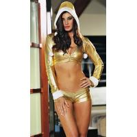 China Shiny gold sexy cheerleaders baby uniforms on sale