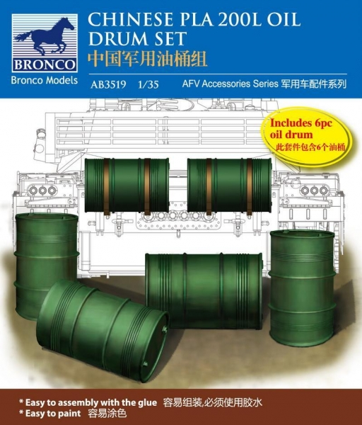 Buy ACCESSORIES AB3519 Chinese PLA 200L Oil Drum Set at wholesale prices