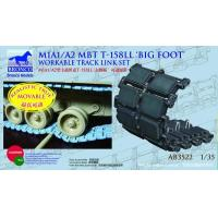 """Quality ACCESSORIES AB3522 M1A1/A2 MBT T-156 """"Big Foot"""" Workable Track Link Set for sale"""