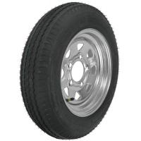 Quality KT 4.80-12 Bias Trailer Tire with 12 Galvanized Wheel - 5 on 4-1/2 - Load Range C for sale