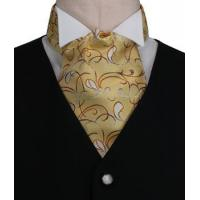 Quality Gold Swirl Paisley Pattern Cravat for sale