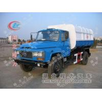 Quality Dongfeng 140 garbage truck with hanging ashbin for sale