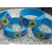 Quality Four Color Printing Blue Silicone Wristband Digital Watches with Changeable Battery for sale
