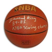 Quality Bernard King Autographed Indoor/Outdoor Basketball Inscribed 84-85 NBA Scoring Champ for sale