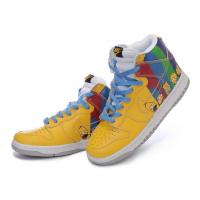Buy cheap Nike air force one 2011 high men shoes yellow blue from wholesalers