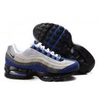 Buy cheap Men's Nike Air Max 95-Grey/Blue Logo from wholesalers