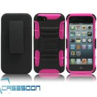 Quality Hard Silicone HOLSTER KICKSTAND Case for Apple iPhone 5 5G for sale