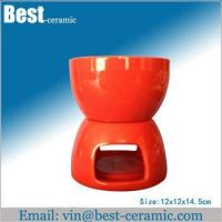 Quality Ceramic fondue set candle ceramic fondue set for sale